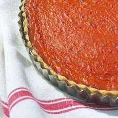 Roasted Red Pepper and Tomato Tart