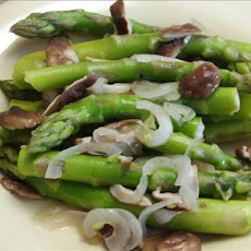 Asparagus with Mushrooms--Fat-free and delicious!