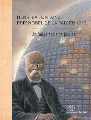 Front cover of the book on Henri La Fontaine drawn by François Schuiten issued in December 2012 by the Mundaneum