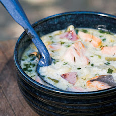 Salmon and Corn Chowder