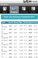 Screenshot of İmsakiye