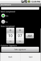 Screenshot of WorkMobile Forms
