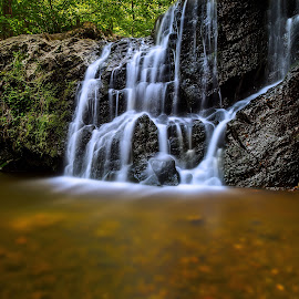Cascade Falls by Jeb Buchman - Landscapes Waterscapes ( water, stream, waterfall, falls, rocks, river )