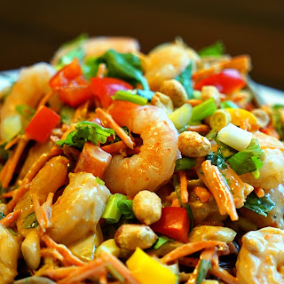 Thai Peanut Shrimp Pasta Salad