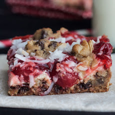 Cherry Chocolate Chip Cookie Bars