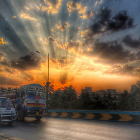 HDR by iPhone by Kapil Shendge - Landscapes Sunsets & Sunrises ( iphone 5s, mumbai, hdr, apple, india )