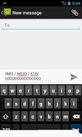 Screenshot of IMEI / MEID / ESN
