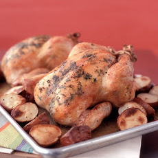 Thyme-Roasted Chicken with Potatoes