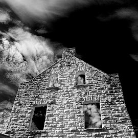 Castle Wall by Larry Strong - Buildings & Architecture Decaying & Abandoned ( building, infrared, castle, architecture )