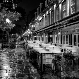 by Jean Verret - City,  Street & Park  Street Scenes