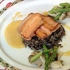 Pan Roasted Arctic Char with Orange and Rosemary Beurre Blanc