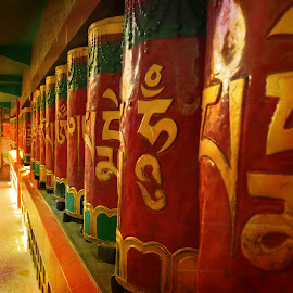 Prayer wheels by Akhil Munjal - Buildings & Architecture Places of Worship ( prayer, monastery )