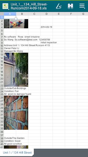 Building inspection report - screenshot