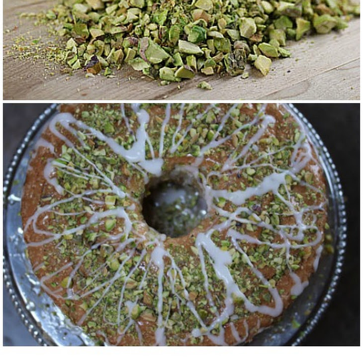 Angel Food Cake with Lime Glaze and Pistachios Recipe | Yummly