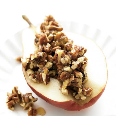 Pear with Honey and Pecans