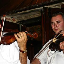 Wine And Music by Brenda Hooper - People Musicians & Entertainers ( musicians, fiddles, entertainers, men,  )