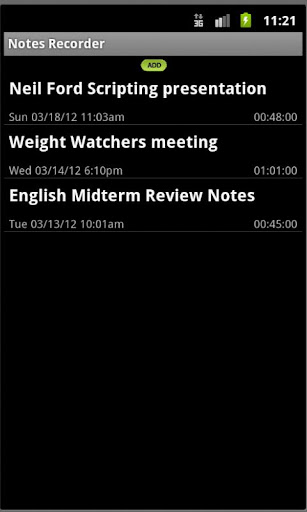 Notes Recorder-by Harvard SW