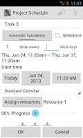 Screenshot of Project Schedule