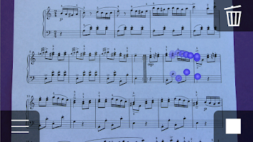 Screenshot of iSeeNotes - sheet music OCR!