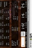 Screenshot of TrackMaster Odds Calculator