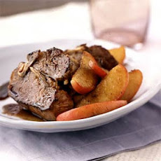 Lamb Chops with Sautéed Apples
