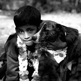 The Dog Lover by Sanjeev Verma - Babies & Children Children Candids