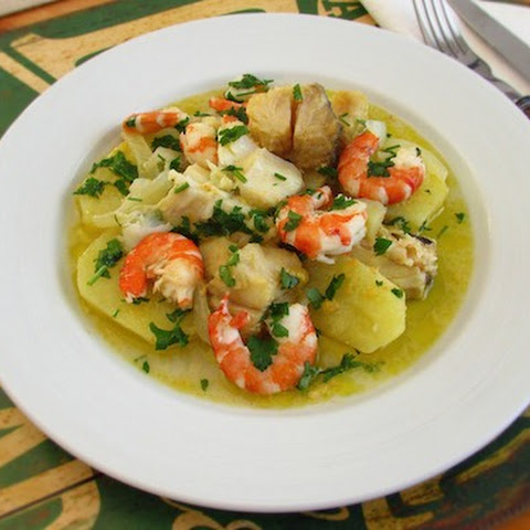 Stewed Cod With Shrimps