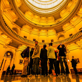 Tourists at the Capitol by Kevin Smith - People Group/Corporate ( group people atrium rotunda )