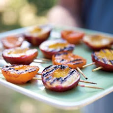 Nectarine and Apricot Skewers