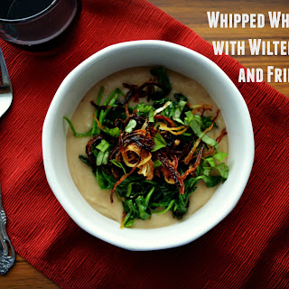 Whipped White Beans with Wilted Spinach and Fried Onions