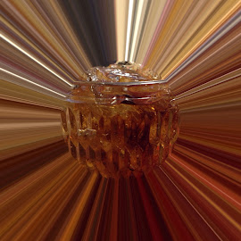 Floating Ice by Linda Tribuli - Abstract Macro ( digital photo )