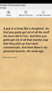 Quotes of Roseanne Barr - screenshot