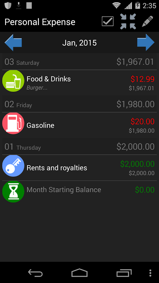 My Wallet - Expense Manager Screenshot 2