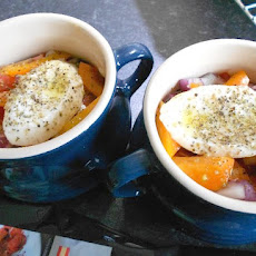 Chorizo, Mozzarella and Vegetable Mini Pots