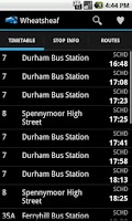 Screenshot of UK Bus Times
