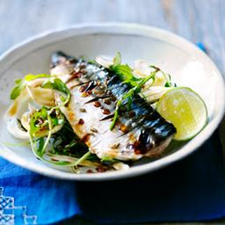 Grilled Mackerel With Soy Lime Dressing
