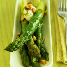 Honey-Lime Asparagus with Goat Cheese