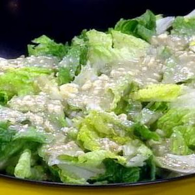 Romaine Salad with Blue Cheese Vinaigrette