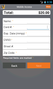 Vanco Payments Mobile Access - screenshot