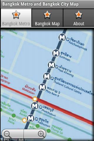 曼谷地鐵和曼谷地圖