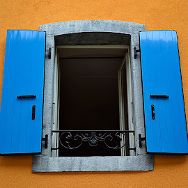 Swiss Window by Kryztyn Salinas - Buildings & Architecture Other Exteriors ( window, colorful, exterior, switzerland, architecture, house,  )