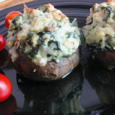 Crab Rockefeller Stuffed Mushrooms