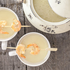 Jerusalem Artichoke Soup With Scampi