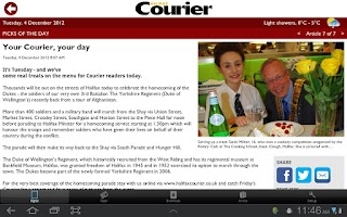 Screenshot of The Halifax Courier