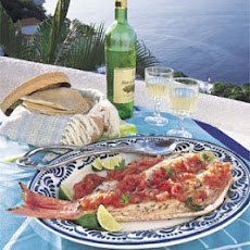 Grilled Whole Fish with Roasted Tomato-Chile Sauce