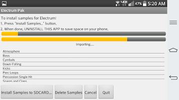 Screenshot of Electrum Pak Drumhits