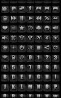 Screenshot of Darkness - Icon Pack