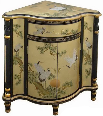Acheter meuble d 39 angle chinois laque d 39 or bubry chez for Acheter meuble chinois