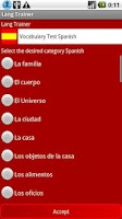 Screenshot of Lang Trainer Demo - Spanish