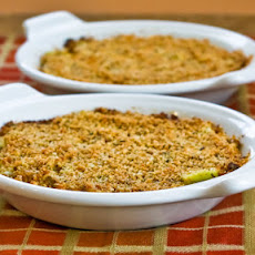 Baked Artichoke Hearts Au Gratin with Green Onion, Parmesan, and Romano